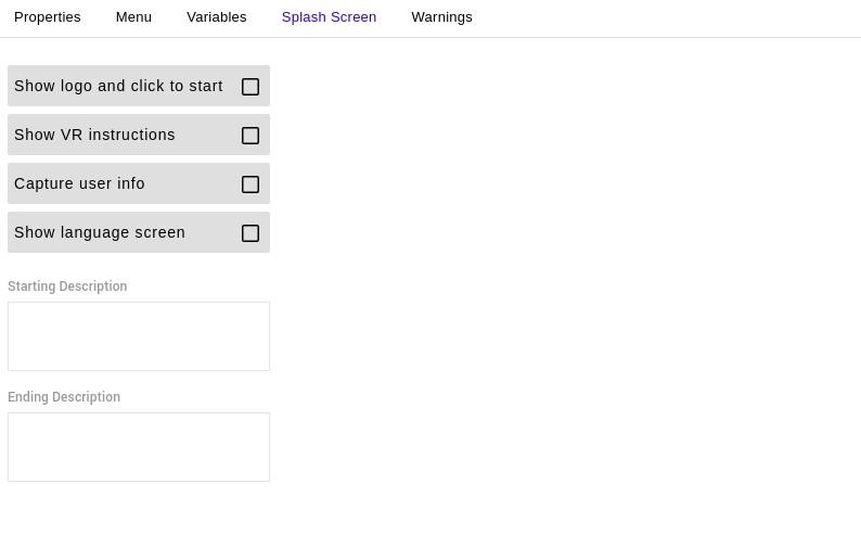 Experience Settings Splash Screen